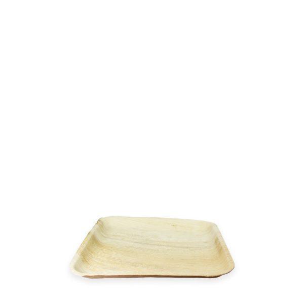 """9"""" x 9"""" Palm Leaf Plate (Square) 300 per case 1"""