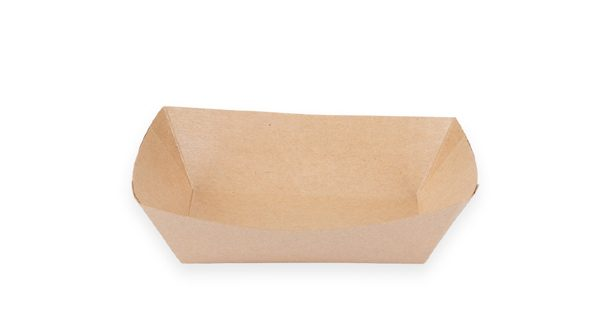 1 lb. Food Boat Tray (Kraft) 1000 per case 1