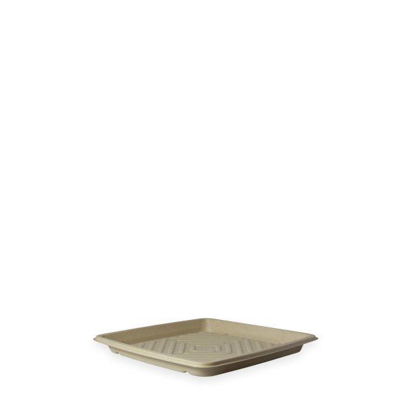 "10.7"" Square Fiber Deli Platter 1"