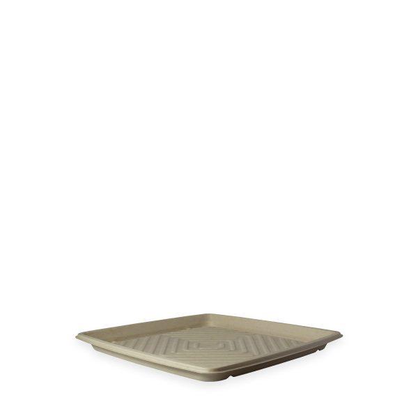 "12"" Square Fiber Deli Platter 1"