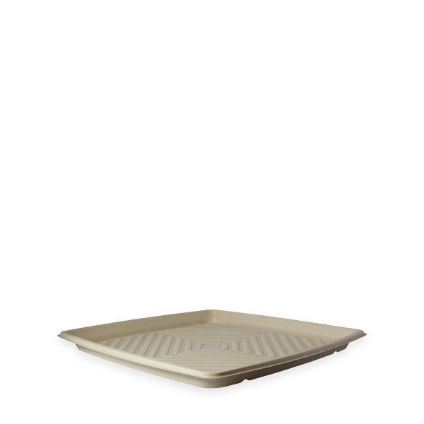 "14"" Square Fiber Deli Platter 1"