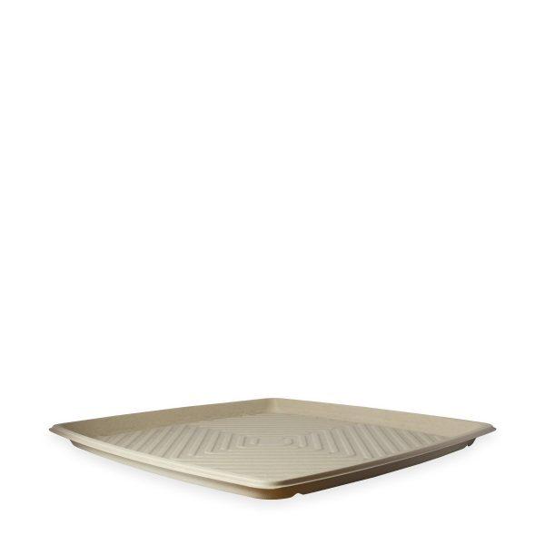 "16"" Square Fiber Deli Platter 1"