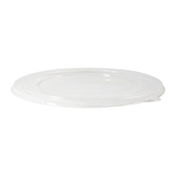 32 oz Bowl Flat Lid (Clear) 300 per case 1