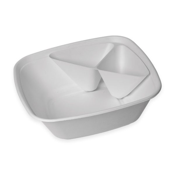 160 oz Serving Bowl Insert (2 Compartment) 400 per case 1