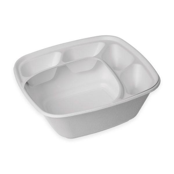 160 oz Serving Bowl Insert (4 Compartment) 300 per case 1