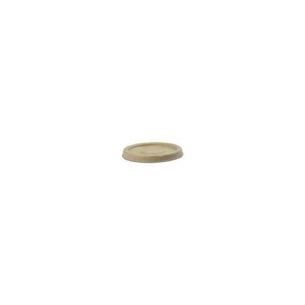 2 oz Fiber Sample Cup Lid (Kraft) 2000 per case 1