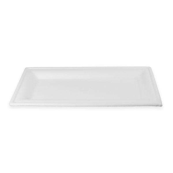 10 x 5 Fiber Plate (Rectangle) 500 per case 1