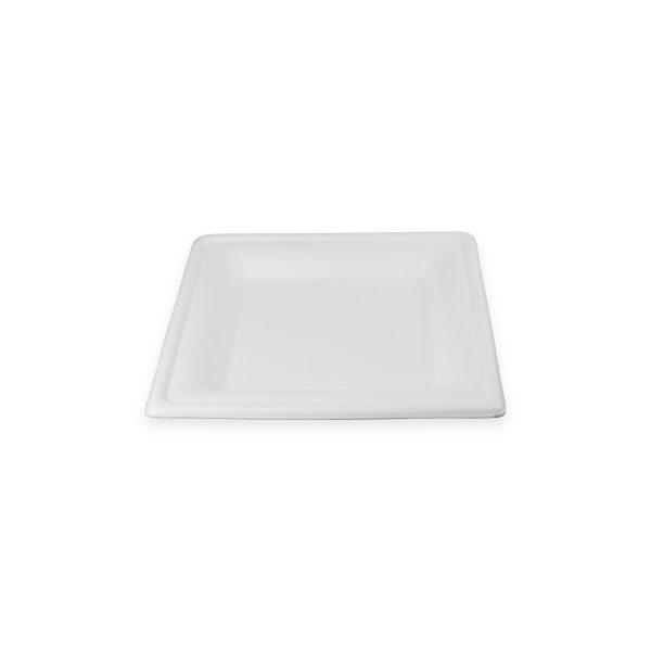 6 x 6 Fiber Plate (Square) 500 per case 1