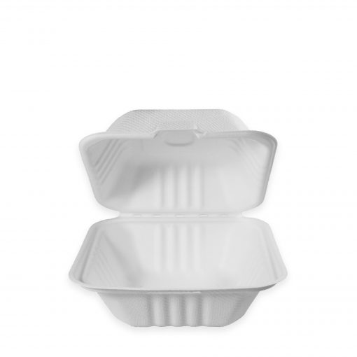 Fiber Clamshell White Containers
