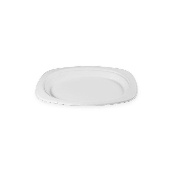 9.2 x 6.5 Fiber Plate (Oval) 500 per case 1