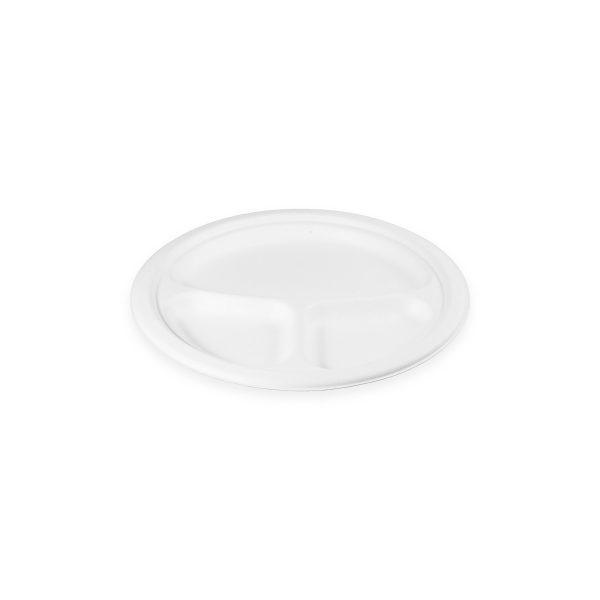 "9"" Fiber Plate (3 Compartment) 500 per case 1"