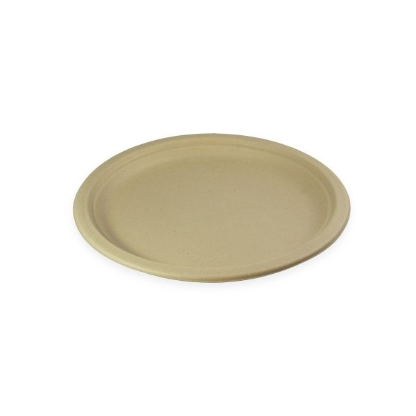 """10"""" Fiber Plate (Kraft) 800 per case 1"""