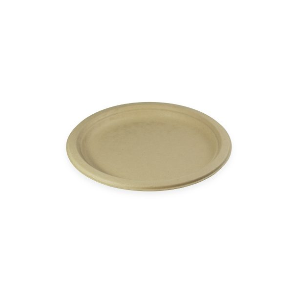 """9"""" Fiber Plate (Kraft) 1000 per case 1"""