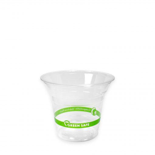 green plastic cups