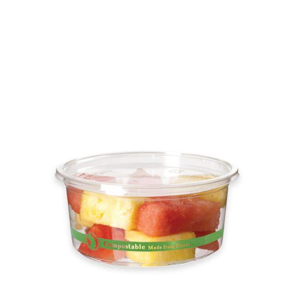 12 oz Ingeo Round Deli Container 600 per case 1