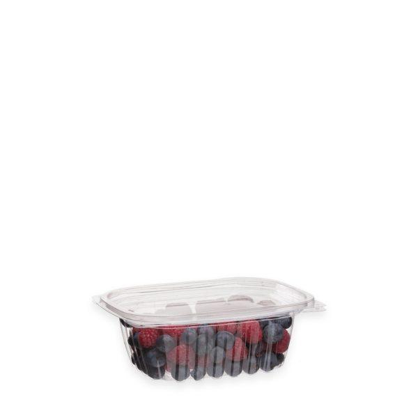 12 oz Ingeo Deli Container (w/ Hinged Lid) 300 per case 1