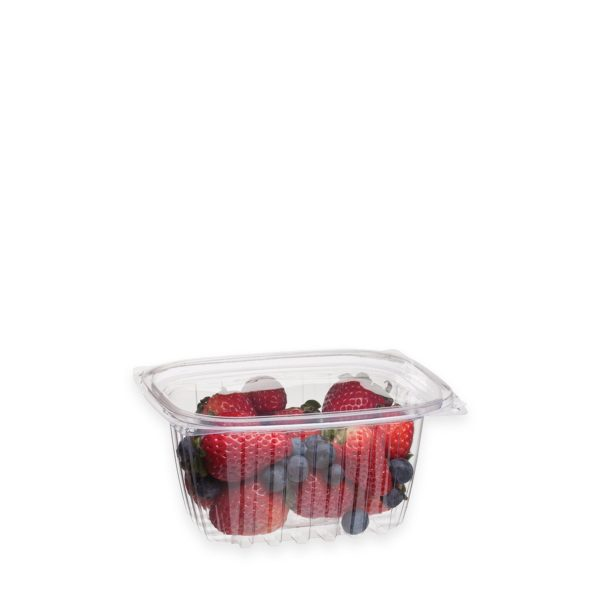 16 oz Ingeo Deli Container (w/ Hinged Lid) 300 per case 1