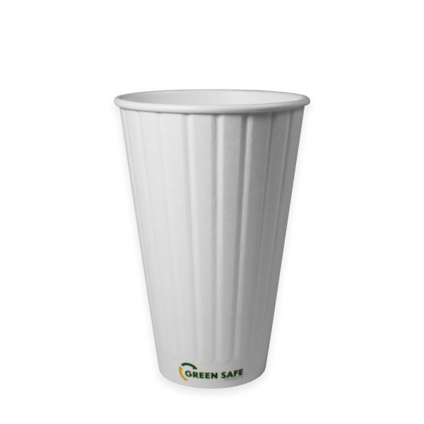 16 oz Double Wall Compostable Hot Cup 600 per case 1