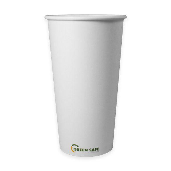 20 oz Single Wall Compostable Hot Cup 500 per case 1