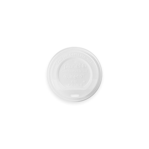 Compostable Hot Cup Lid (8 oz) 1000 per case 1