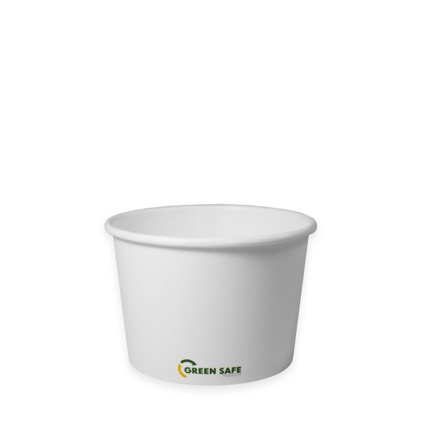 16 oz Compostable Paper Soup Cup 500 per case 1