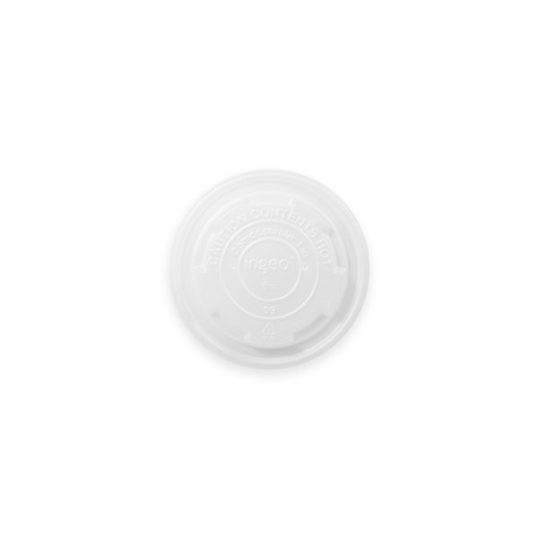 8 oz Compostable Paper Soup Cup Lid 1000 per case 1