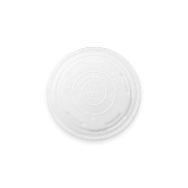 12, 16, 32 oz Compostable Paper Soup Cup Lid 500 per case 1