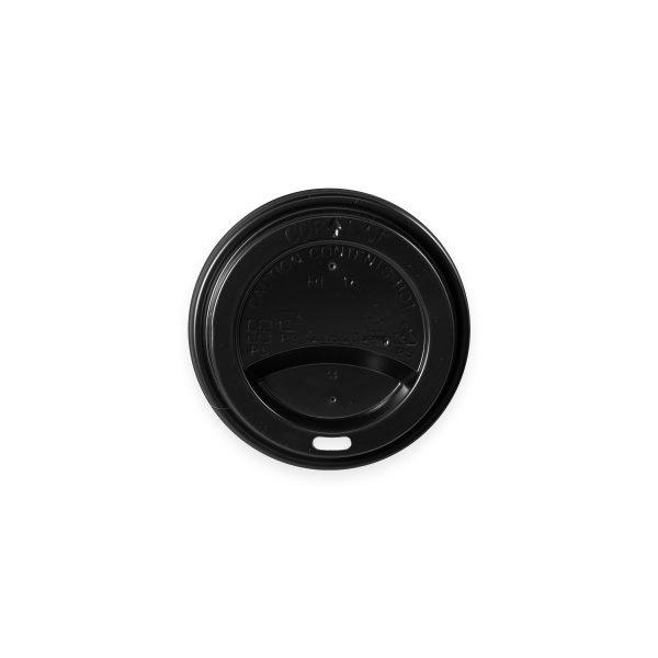 Black Hot Cup Lid (10-20 oz) 1000 per case 1