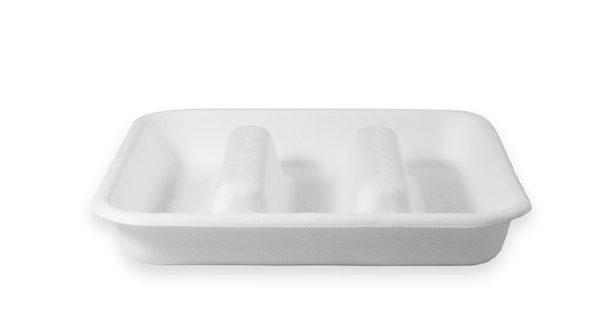 Taco Fiber Tray (3 Compartment) 300 per case 1