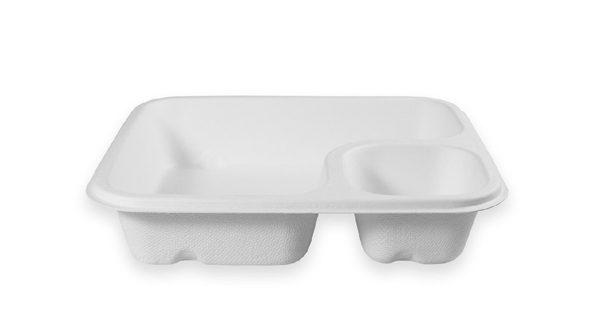 Nacho Fiber Tray (2 Compartment) 600 per case 1