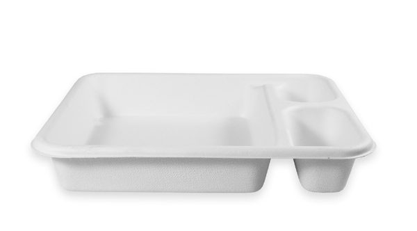 Nacho Fiber Tray (3 Compartment) 400 per case 1