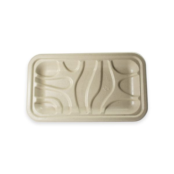 8 x 5.75 x 6.5 | Fiber Meat & Produce Tray (Ingeo Lined) 500 per case 2