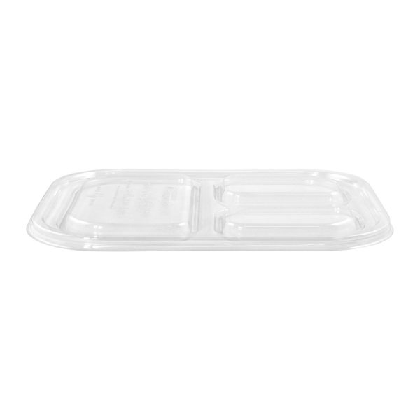 10 x 7.5 | Ingeo Tray Lid (3 Compartment) (Clear) 400 per case 1
