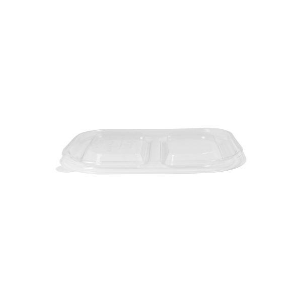 8 x 6 x 1.5 | Ingeo Container Lid (3 Comp) (Clear) 400 per case 1